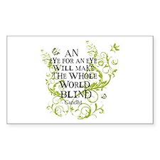 Gandhi Vine - Blind - Green Rectangle Decal