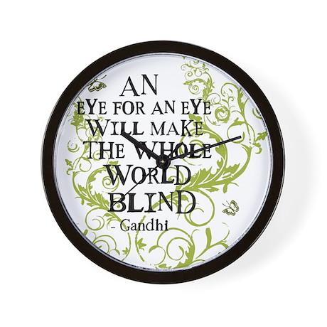 Gandhi Vine - Blind - Green Wall Clock
