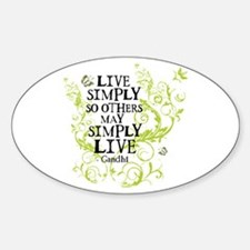 Gandhi Vine - Simply - Green Oval Decal