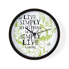 Gandhi Vine - Simply - Green Wall Clock