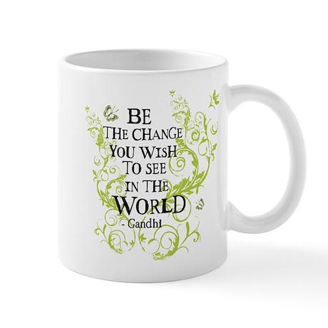 Gandhi Vine - Change - Green Mug
