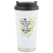 Gandhi Vine - Change - Green Travel Mug