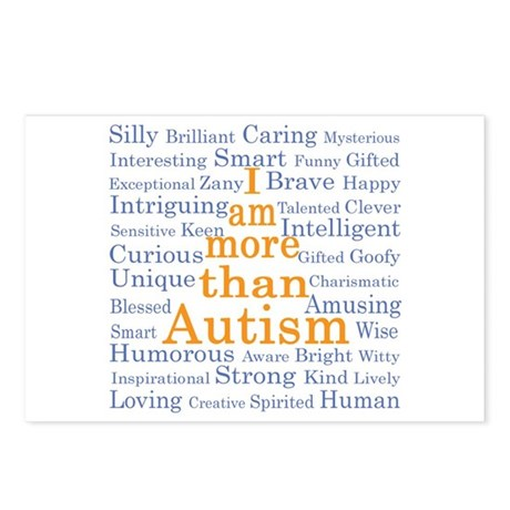 I am more than Autism Postcards (Package of 8)