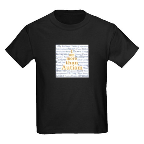 I am more than Autism Kids Dark T-Shirt