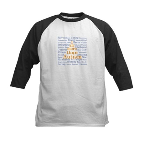 I am more than Autism Kids Baseball Jersey
