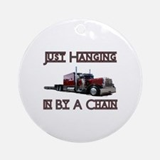 Just Hanging By A Chain Ornament (Round)