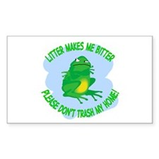 Bitter Litter Frog Rectangle Decal