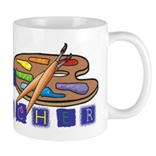 Art Teacher Palette Mug