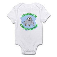 Bitter Litter Owl Infant Bodysuit