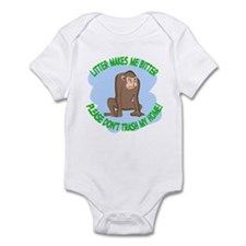 Bitter Litter Monkey Infant Bodysuit