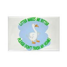 Bitter Litter Goose Rectangle Magnet