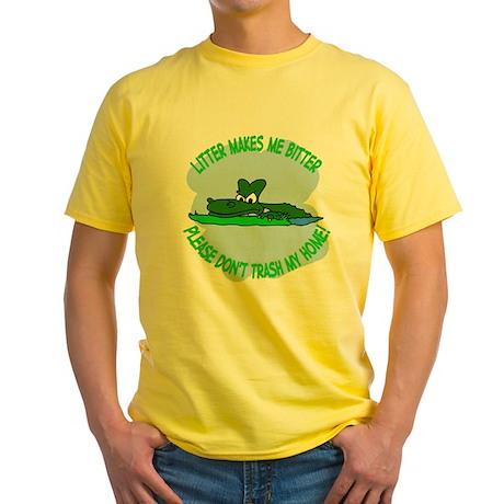 Bitter Litter gator Yellow T-Shirt