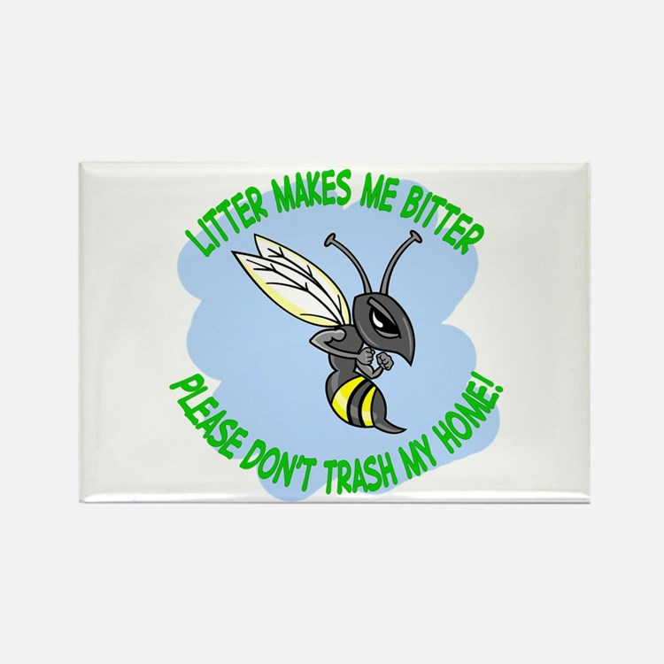 bitter litter bee Rectangle Magnet