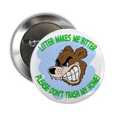 "Bitter Litter Bear 2.25"" Button (10 pack)"