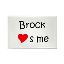 Brock name Rectangle Magnet