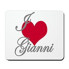 I love (heart) Gianni Mousepad