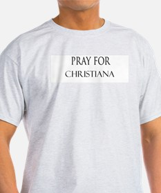 CHRISTIANA Ash Grey T-Shirt