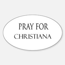 CHRISTIANA Oval Decal