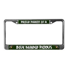 Proud Parent Blue Head Pionus License Plate Frame