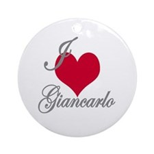 I love (heart) Giancarlo Ornament (Round)