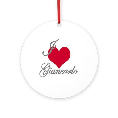I love (heart) Giancarlo Ornament (Round)