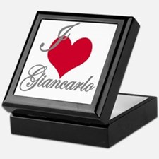 I love (heart) Giancarlo Keepsake Box