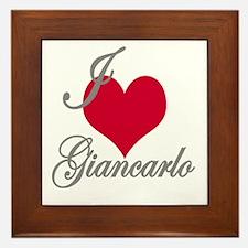 I love (heart) Giancarlo Framed Tile