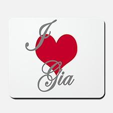 I love (heart) Gia Mousepad