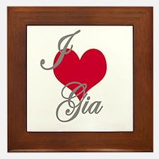 I love (heart) Gia Framed Tile