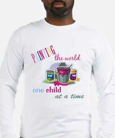 Painting The World... Long Sleeve T-Shirt
