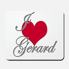 I love (heart) Gerard Mousepad