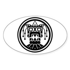 Tlaloc Oval Decal
