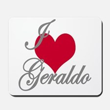 I love (heart) Geraldo Mousepad