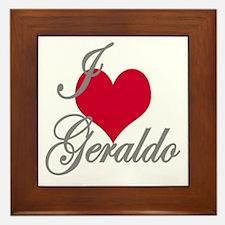 I love (heart) Geraldo Framed Tile
