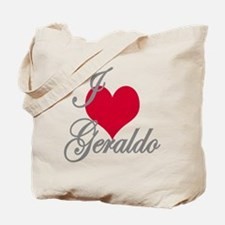 I love (heart) Geraldo Tote Bag