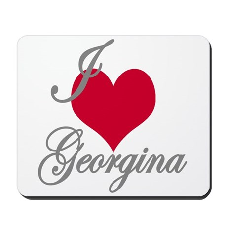 I love (heart) Georgina Mousepad