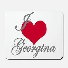 I love (heart) Georgina Mousepad