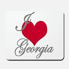 I love (heart) Georgia Mousepad