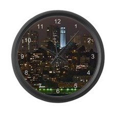 Coit Tower San Francisco Large Wall Clock