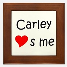 Cool Carley Framed Tile