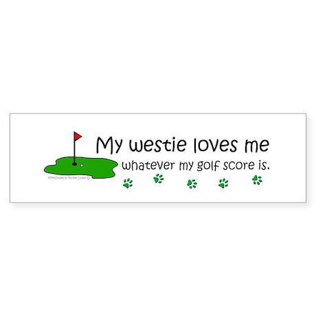 westie Bumper Sticker