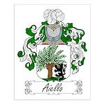 Aiello Family Crest Small Poster
