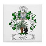 Aiello Family Crest Tile Coaster