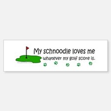 schnoodle Bumper Bumper Bumper Sticker