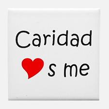 Funny Caridad Tile Coaster