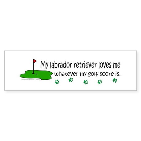 labrador retriever Bumper Sticker