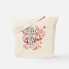 Gandhi Vine - Simply - Pink Tote Bag