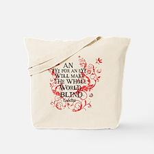 Gandhi Vine - Blind - Pink Tote Bag