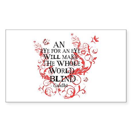 Gandhi Vine - Blind - Pink Rectangle Sticker