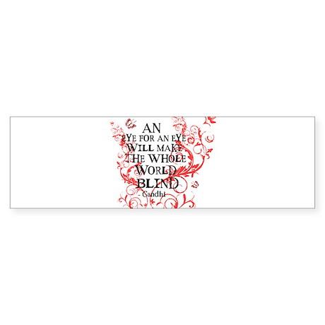 Gandhi Vine - Blind - Pink Bumper Sticker